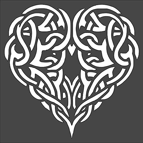 1 PCS Custom Cut Stencil, (PA-29) Celtic Heart Knot 8X8 in Crafts, Arts, Scrapbooking - Painting on The Wall, Wood, Glass and Other