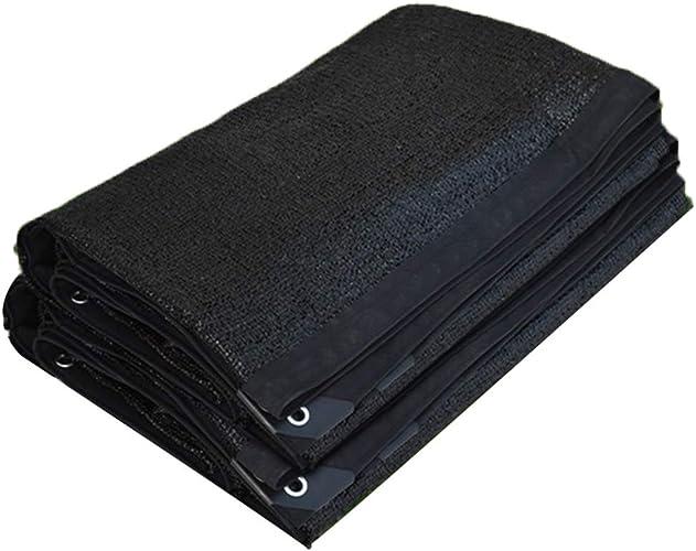 LXHONG-Filet De Camouflage Toile d'ombre Prougeection Contre Les Ombres Résistance aux Rides Anti-UV Trou en métal antirouille Abri Voiture, 23 Tailles (Couleur   noir, Taille   6x8m)