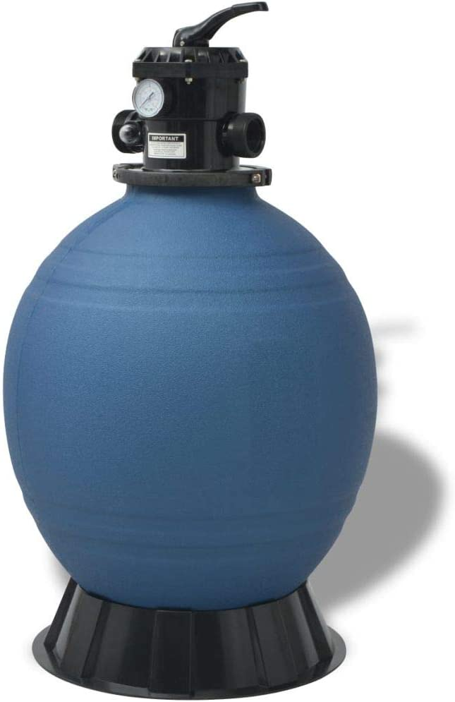INLIFE Free shipping anywhere Popular standard in the nation Pool Sand Filter Blue inch 22 Round