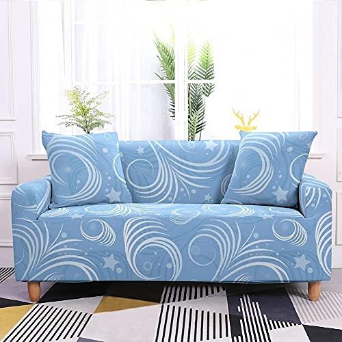 WXQY Sala de Estar Funda de sofá elástica con Estampado Floral Todo Incluido Funda de sofá de Esquina en Forma de L Funda de sillón Funda de sofá A10 1 Plaza