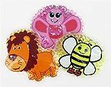 3 Kühlpads Löwe Schmetterling Biene Wärmepad mehrfach Kompresse Kühlkissen Kinder wärmen kühlen Tiermotiv
