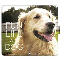 Xperia XZ2 SO-03K ケース [デザイン:22.ゴールデン・レトリバー/マグネットハンドあり] 犬 イヌ いぬ 手帳型 スマホケース カバー エクスペリア so03k