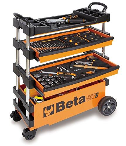 Carro De Ferramentas Tipo Trolley Rebatível Para Trabalhos Ao Ar Livre Laranja, Beta C27s Beta Laranja