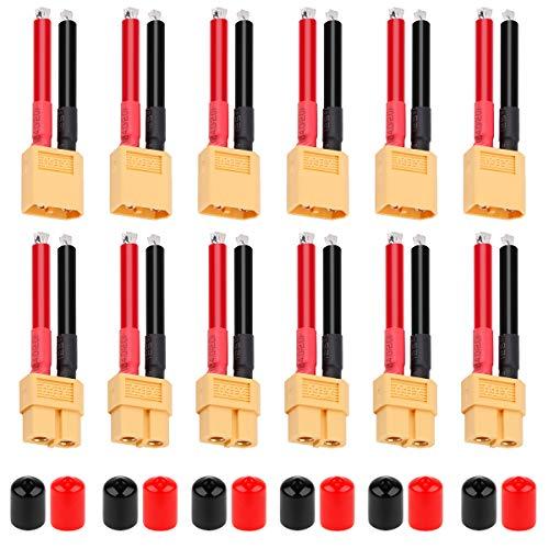 Conector XT60 Hembra y Macho XT60 Plug 12AWG Cable de Silicona con...