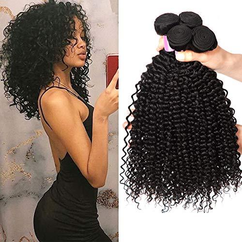 Brazilian Kinky Curly Hair Bundles Human Hair Curly Weave Human Hair Bundles 8 10 12 Inch Total 300 g Full Head Virgin Hair Natural Color EMOL Hair