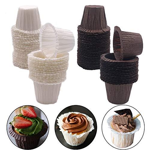 Muffin Förmchen Papier - WENTS 60 Stück Backförmchen Cupcake Liners, Fettdicht, Papier-Backförmchen Runde Kuchen Backförmchen Muffin Formen für Dessert Hochzeit Geburtstag Party