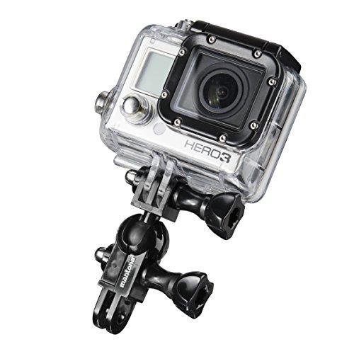 Mantona 21053 mini Kugelkopf (für GoPro Hero 6 5 4 3+ 3 2 1, Session und andere kompatible Action Cams)