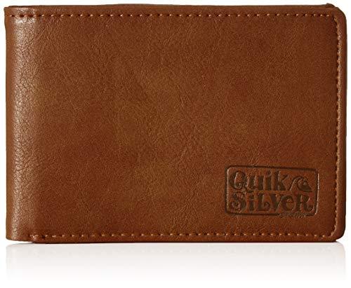 Quiksilver Slim Folder, Monederos. para Hombre, marrón, Large