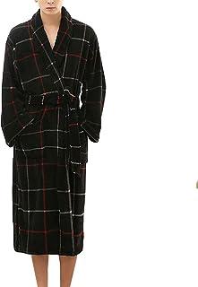 Albornoz de Manga Larga c/álido en Invierno para Hombre Moda Casual Largo Bata de ba/ño Espesar Hombres Nuevo Pijama a Cuadros Bata de casa