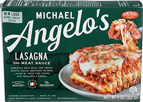 Michael Angelos Lasagna with Meat Sauce, 11 Ounce -- 8 per case.