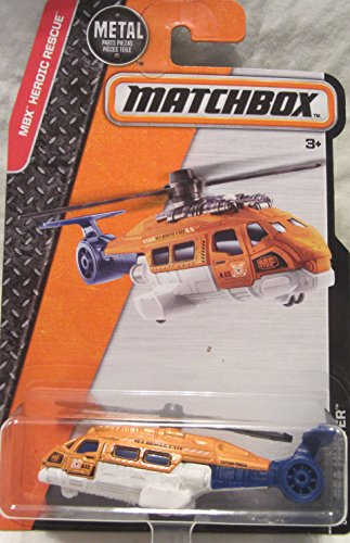 Matchbox, 2016 MBX Heroic Rescue, Sea Hunter Helicopter [Orange] #62/125