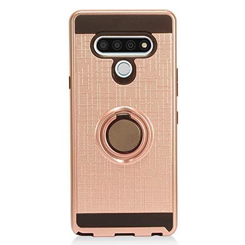 CELZEN - for LG Stylo 6 LM-Q730 (2020) - Hybrid Phone Case w/Ring Stand - RS2 Rosegold