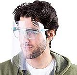 5 pezzi visiera protezione completa per uso quotidiano Paraschizzi in Plastica Trasparente,Coperchio Antinebbia anti-saliva,antivento, Coperchio Antinebbia Proteggi Gli Occhi e Il Viso