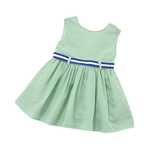 YWLINK Vestido De Princesa De Estilo Occidental con Estampado De Cuadros De Burbujas para NiAs Y NiOs Vestido De Princesa Infantil Sin Mangas para BebS