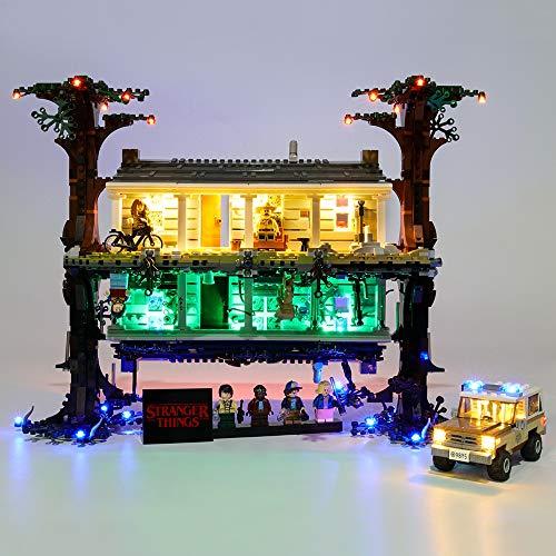 La Iluminación LED Fijó Compatible con Lego 75810, Juego De Luces De Bricolaje para Stranger Things El Revés Bloque De Construcción, Accesorios De Juguete (Único Conjunto De Luz)