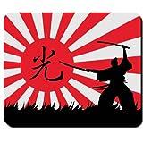 Samurai Krieger Japan Flagge Fahne Sonne Kung-Fu Karate Kampfsport Ehrenkodex Codex Ninja Kämpfer - Mauspad Mousepad Computer Laptop PC #16539