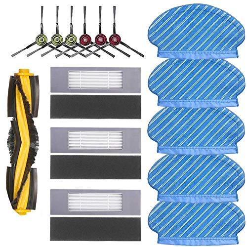 Filterbürste Wischtuch Set für Ecovacs Deebot Ozmo 920 950 Staubsauger Teile…
