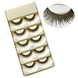 Bluelans 5 Pairs Handmade Cross Eye Lashes Extension Natural Long Soft False Eyelashes (#2)
