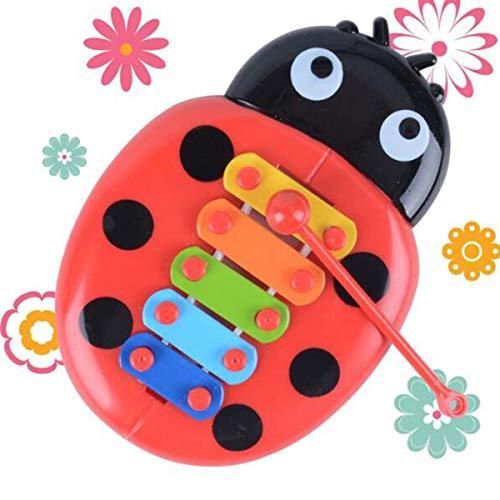 Gugutogo Golpe de Mano Piano Juguetes educativos Arpa de Mano Boy Girl Musical Baby Toy 8-Note Xilófono para niños de 0-3 años Niño