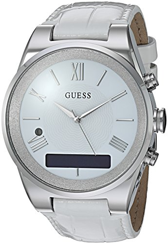 GUESS Women's Stainless Steel Connect Smart Watch - Amazon Alexa, iOS and Android Compatible, Color: Silver (Model: C0002MC1)