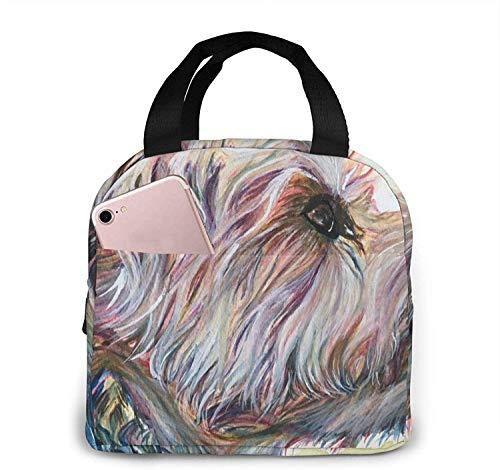 Bolsas de almuerzo para perros Yorkshire Terrier para mujeres, caja de almuerzo con aislamiento portátil, bolsa refrigeradora, bolsa Bento para viajes/picnic/trabajo