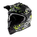 O'NEAL | Motocross-Helm | Kinder | MX Enduro | ABS-Schale, Sicherheitsnorm ECE 22.05, Lüftungsöffnungen für optimale Belüftung & Kühlung | 2SRS Helmet Attack Youth | Schwarz Neon-Gelb | Größe L