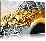 schimmerndes Saxophon schwarz/weiß Format: 120x80 auf