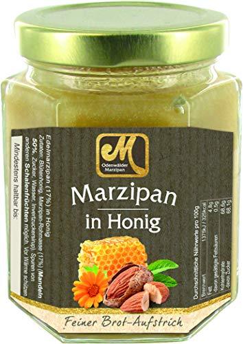 Odenwälder Marzipan in Honig im Glas 220g. Regionaler Honig mit feinstem Marzipan veredelt. Ideal für die Marzipan und Honig Genießer
