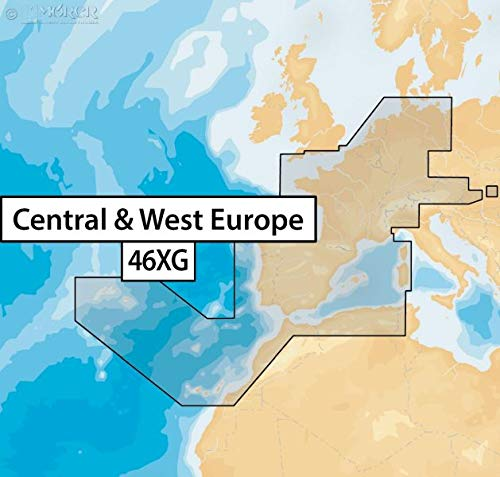 Navionics+ 46XG Central & West Europe, µSD-Karte