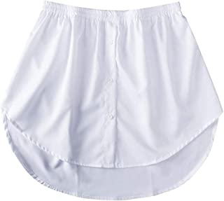 YXKC Mini Skirt Shirt Extenders,Adjustable Layering Fake Top Lower Sweep Set