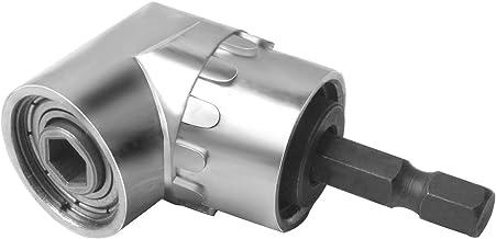 105° Taladro de Ángulo Recto 1/4 Pulgadas Hexagonal Broca de Destornillador de Socket Adaptador de Portabrocas por Poweka