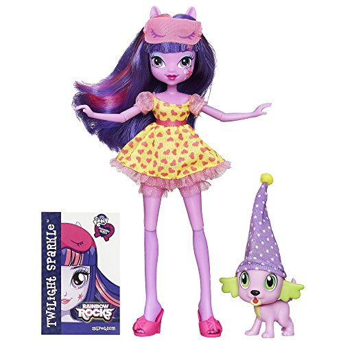 Hasbro B1072 My Little Pony Reiter Mädchen Rainbow Rocks Twilight Sparkle und Spike The Puppy Set