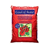 Coast of Maine OMRI Listed Tomato and Vegetable Plant Potting Soil Compost Blend for Container Gardens and Flower Pots, 20 Quart Bag
