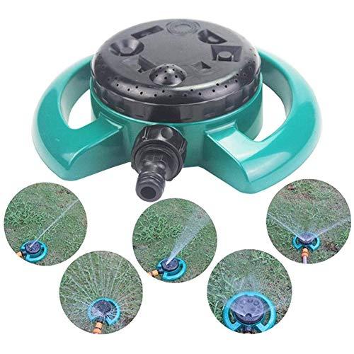 DXQDXQ Eau Automatique Arroseur de Jardin avec 8 Modes Degrées Darrosage Rotatif Arrosage Irrigation pour Gazon Pelouse Jardin Facile de Raccordements de Tuyaux Bassin