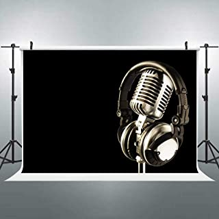 Headphones Backdrop Music Concert Theme Backgrounds for Photography Video Party Decoration Photo Booth Studio Props FLASIY...