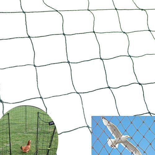 Strong 50ft X100ft Net Netting for Bird Poultry Aviary Chickens Game Pens