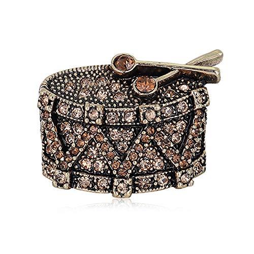 SANWOOD Women Wedding Music Note Drum Shape Rhinestone Brooch Pin Jewelry...