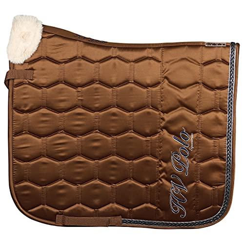 HV Polo Tapis de Selle HVPWayomi Luxery - Marron Moyen-Dressage Cheval