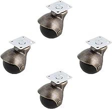Zwenkwielen, Caster Wheels Set van 4 [4 Pack] Swivel Top Plate Hooded Ball Caster Wheels, Antiek Brons (1,5-inch Geen rem)...