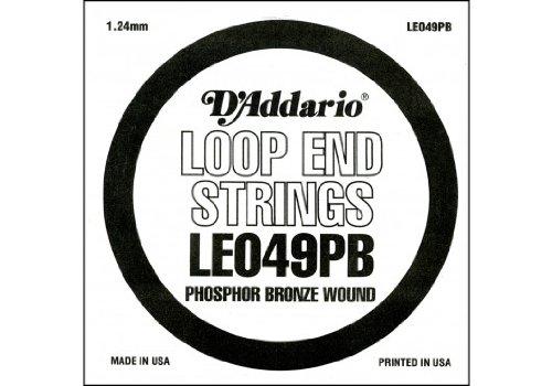 D'Addario LE049PB, cuerda individual de bronce fosforado con terminación de lazo.049