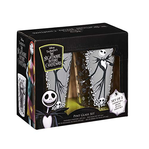 Funko NBC05930 The Nightmare Before Christmas Glass, Multicolour, One Size