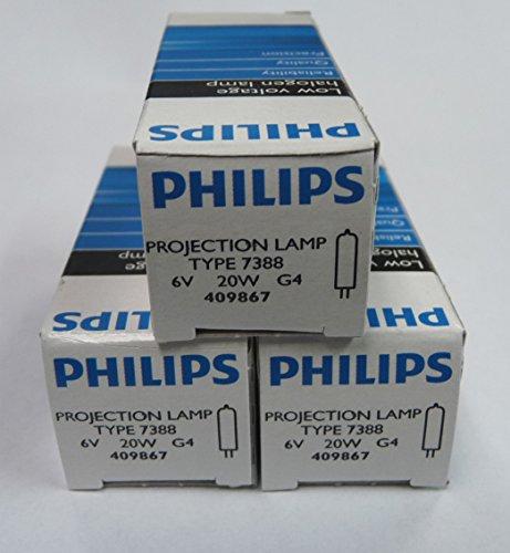 3 Pack - Philips 7388 ESB Halogen Bulb 6V 20W