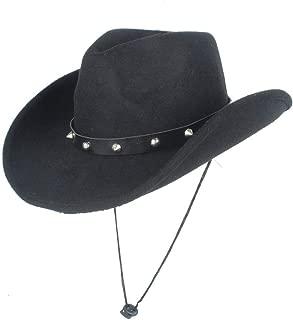 Hat Size 56-58CM Men Women Wool Western Cowboy Hat With Punk Rivet Wide Brim Hat Winter Outdoor Casual Hat Fashion Hat