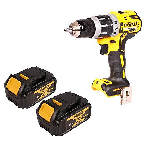 DEWALT DCD795N 18V XR BRUSHLESS Combi Drill 2 x 4Ah Batteries DCB182