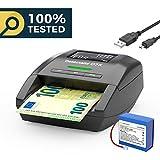Verificatore di banconote false Detectalia D7X, cavo per aggiornamento e batteria ricaricabile
