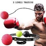 GOAMZ Boxe Balle, 3 Différents Boxing Reflex Ball + Bandeau Ajustable, pour Les...