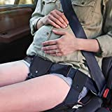 COOLBEBE Car Seat Belt Adjuster, Maternity Safety Belt with Cushion Pad –Protect Unborn Baby, Fashionable & Durable, Much Safer and Comfortable for Expectant Mothers, Black