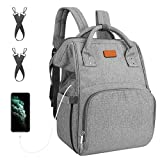 sensyne  Diaper Bag Backpack, Multi-Function Waterproof Maternity Baby Nursing Nappy Back Pack for Boy/Girl on Travel with Stroller Straps, Large & Stylish & Durable