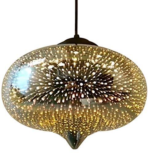 Moderno 3D Colorido Fuegos Artificiales de Cristal araña Colgante luz Comedor Cocina decoración de la Isla de la Isla de la iluminación de Techo LED E27 Shades Liger Silver-A