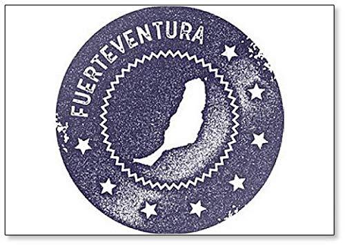Fuerteventura kaart Vintage. Retro-stijl. - Koelkast magneet
